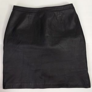 Newport News Genuine Leather Fully Lined Skirt 10